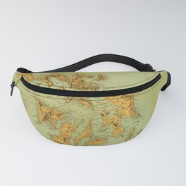 Map Of The Philippines 1898 Fanny Pack