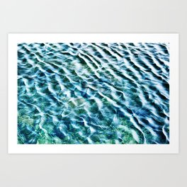 Glittering Waves Art Print