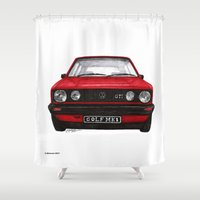 golf Shower Curtains featuring Golf Mk1 by Jorge Antunes