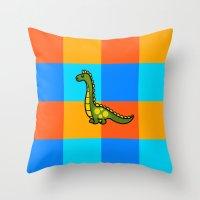dino Throw Pillows featuring Dino by ZaWe