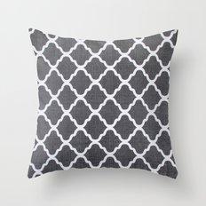 Grey style pks Throw Pillow