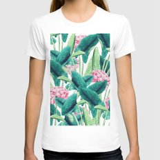 Lovely Botanical #society6 #decor #buyart White SMALL Womens Fitted Tee