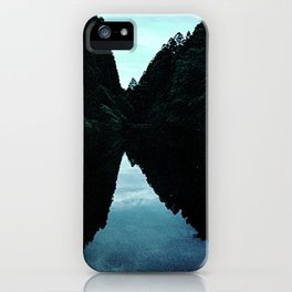 twin peaks - sky and forest vs. reflection iPhone Case