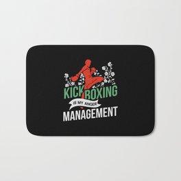 Kickboxing Is My Anger Management Bath Mat