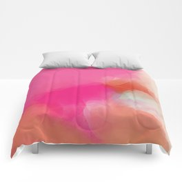dreamy days in pink peach aquarell Comforters