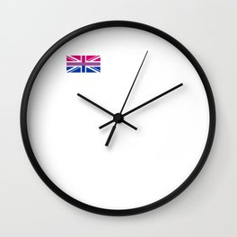 Gay Pride LGBT Bisexual Bi GB UK Union Jack Flag design Wall Clock