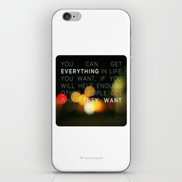 Want Everything? iPhone Skin