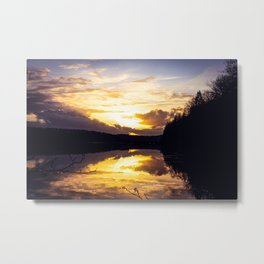 Sundown At Lake Heve 7 Metal Print