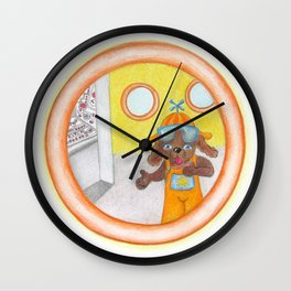 The Pilot is a Dog! Wall Clock