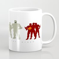 pacific rim Mugs featuring Pacific Rim: We Believed in Each Other by MNM Studios