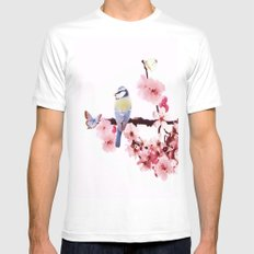 Spring White MEDIUM Mens Fitted Tee