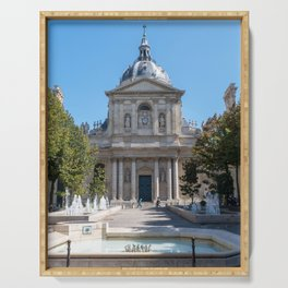 Tower of the Sorbonne University in Paris Serving Tray