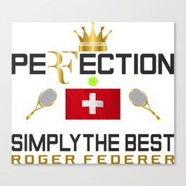 Rger Federer Perfection Canvas Print