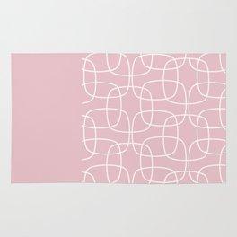 Square Pattern Pink II Rug