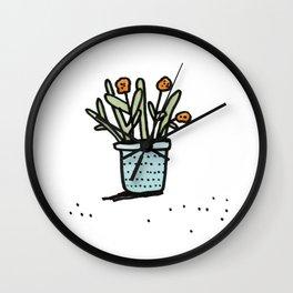 Pretty Plant 2 Wall Clock