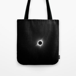 Solar Eclipse in Black & White Tote Bag