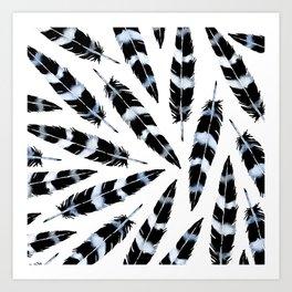Viking Feather Indigo Art Print