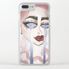 Miss Rose Clear iPhone Case