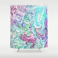 under the sea Shower Curtains featuring Under the Sea by Doodle Design