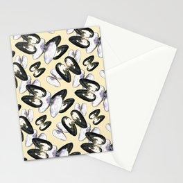 Unio Crassus Pattern in Beige Stationery Cards