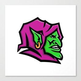 Goblin Head Mascot Canvas Print