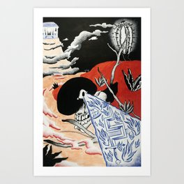 Prophecy of the Burning Limb, Hobo Wizard series. Art Print