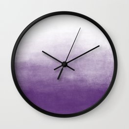 Ombre Paint Color Wash (purple/white) Wall Clock