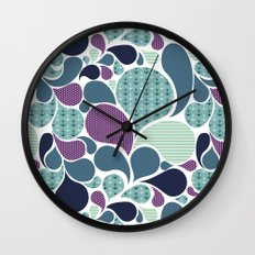 Sea pattern Wall Clock