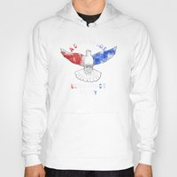 politics Hoodies featuring Dove Politics by Caravan Tshirts