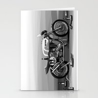cafe racer Stationery Cards featuring Beer Savage Vintage Norton Cafe Racer by TCORNELIUS