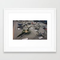 military Framed Art Prints featuring Military Jets by sannngat