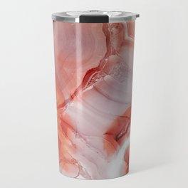 Living Coral Gemstone Travel Mug