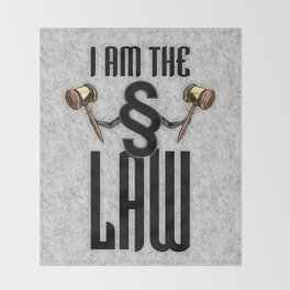 I am the law / 3D render of section sign holding judges gavels Throw Blanket