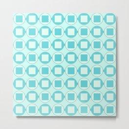Candy Mint Sweets Pattern Metal Print