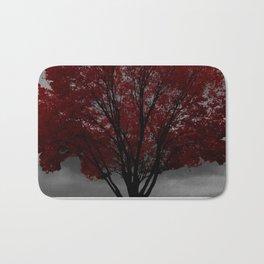 Red Tree, Grey Sky Bath Mat
