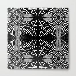 Zentangle #16 Metal Print