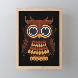 Friendly Owl Framed Mini Art Print