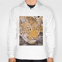 leopard Hoodies featuring Leopard by stevesart