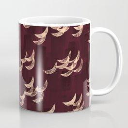Solar eclipse shadows // burgundy Coffee Mug