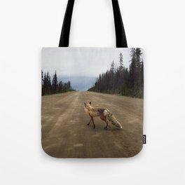 Road Fox Tote Bag