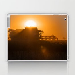Midsummer time is harvest time of the cereal fields Laptop & iPad Skin