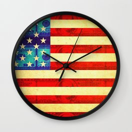 American money flag Wall Clock