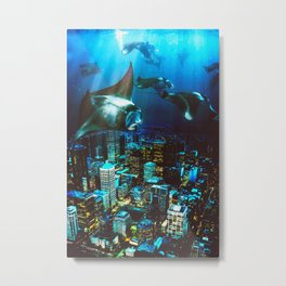 City Cruising Metal Print