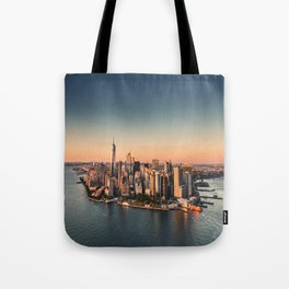 manahttan with fireworks Tote Bag