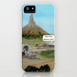 Travels with Kids Oregon Trail Theme iPhone Case