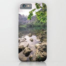 Obersee Lake summer scene iPhone Case