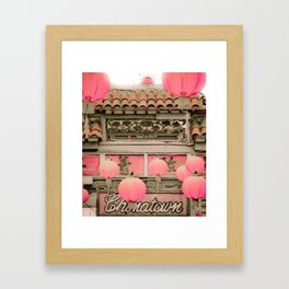 Los Angeles Chinatown Sign Framed Art Print
