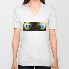 Look into my eyes Unisex V-Neck