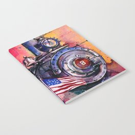 American Train by Kathy Morton Stanion Notebook