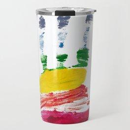 Pride Hand Print Travel Mug